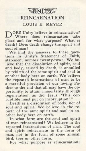 Louis E Meyer: Reincarnation Cover