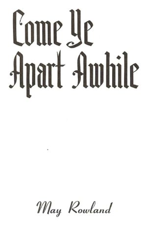 Come Ye Apart Awhile Cover