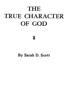 THE TRUE CHARACTER OF GOD Cover