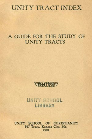 Unity Tract Index (1924) Cover