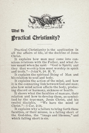 Unity Tract What is Practical Christianity? from 1898
