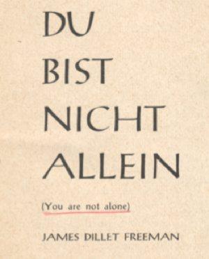DU BIST NICHT ALLEIN Cover