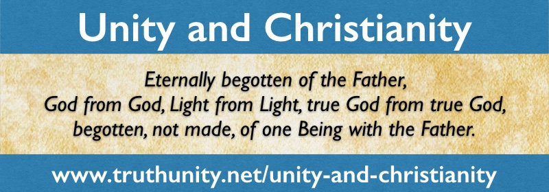 Unity and Christianity Eternally begotten of the Father Banner