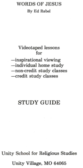 Ed Rabel Words of Jesus Study Guide Cover Page