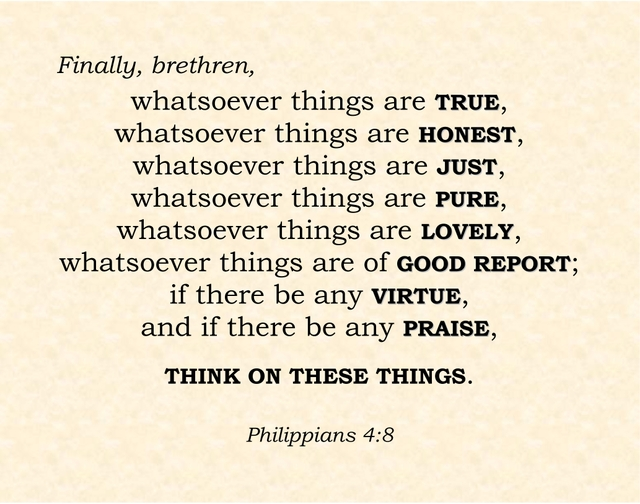 Text of Philippians 4:8