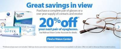 Tryspree - Receive 20% Off Your Next Pair of Eyeglasses-Walmart ...