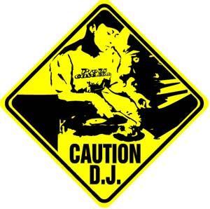 Tryspree - Caution DJ Sticker