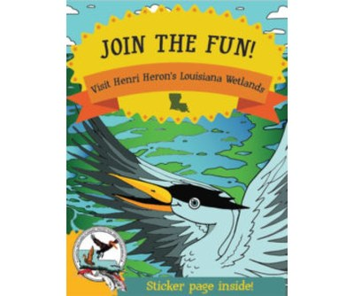 Henri Heron's Activity Book with Stickers for Kids