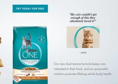 Free-sample-purina-one-dry-cat-food
