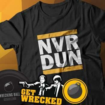Free Wrecking Ball T-Shirt, Frisbee and Stickers