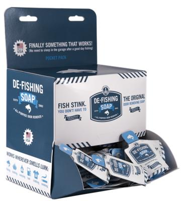 Free De-Fishing soap Pocket Packs - Fishing tackle retailers