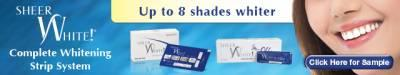 Free Sample Sheer White Complete Whitening Strip System