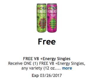 Free-v8-energy-singles
