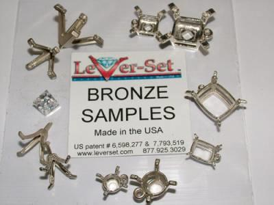 Free Lever-Set Bronze Samples For Setters & Jewelers