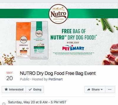 Free NUTRO Dry Dog Food at PetSmart (May 20)