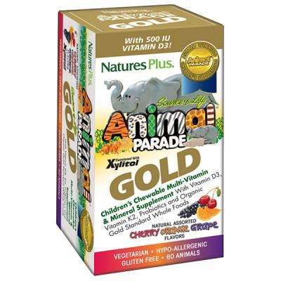 Free Animal Parade GOLD Children's Chewable Multi - Assorted Flavors