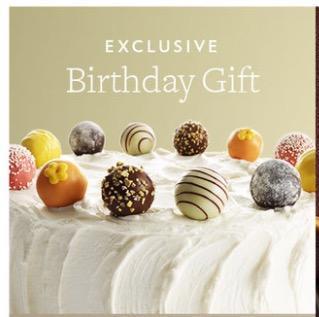 Free Birthday Gift from Godiva Chocolates