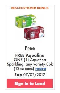 FREE Aquafina Sparkling at Kroger