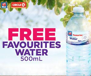 Free Favourites Water at Mac's & Circle K