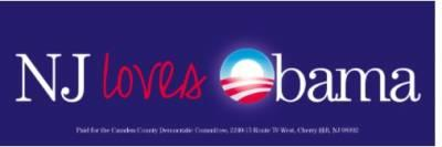 Free 'NJ Loves Obama' Sticker