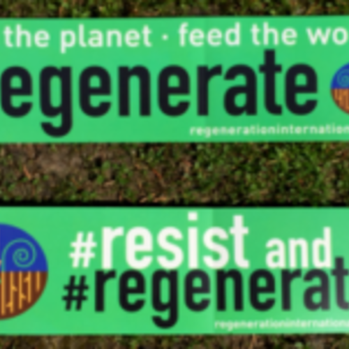 Free Resist and Regenerate Bumper Sticker