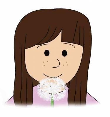 Free A Dandelion Girl Sticker
