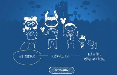 free printed decal Disney Parks stick figure