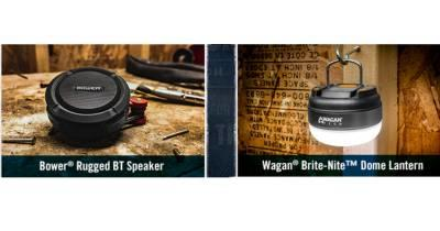 Free Bower Rugged Bluetooth Speaker or Wagan Brite-Nite Dome Lantern