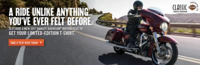 Free Limited Edition Harley-Davidson T-Shirt w/Test Drive