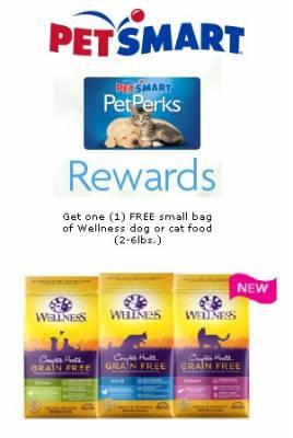 Free Bag of Dog or Cat Wellness Pet Food at PetSmart