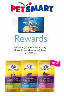 Free Bag of Dog or Cat Wellness Pet Food at PetSmart
