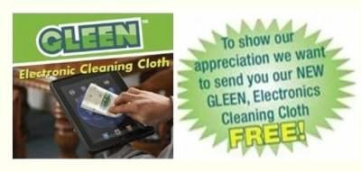 Free Sample of Gleen Cloth Electronic Cleaning Cloth