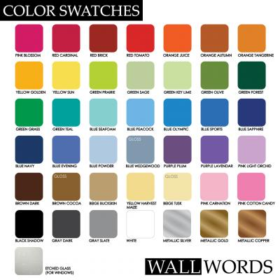 Free Color Samples From Wall Words