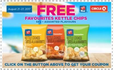 Free 56g Favourites Kettle Chips (Aug 21 to 27 2017)