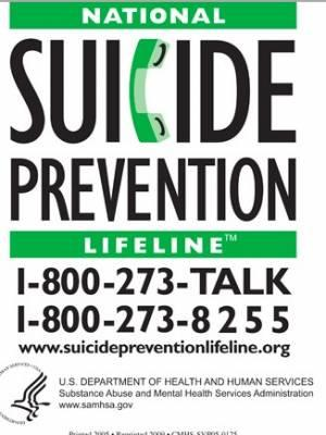 National Suicide Prevention Lifeline magnet