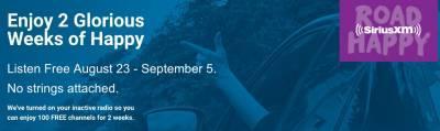 2 Weeks of Free SiriusXM Radio