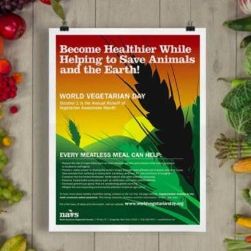 World Vegetarian Day - Free Poster