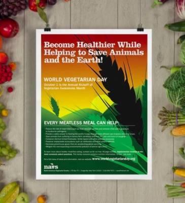World Vegetarian Day - Free Poster