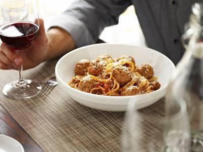 Mom's Ricotta Meatballs + Spaghetti - Free for First Responders at Romano's Macaroni Grill