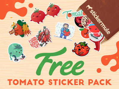 Tomato Sticker - Free Pack