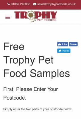 Trophy Pet Food - Free Sample