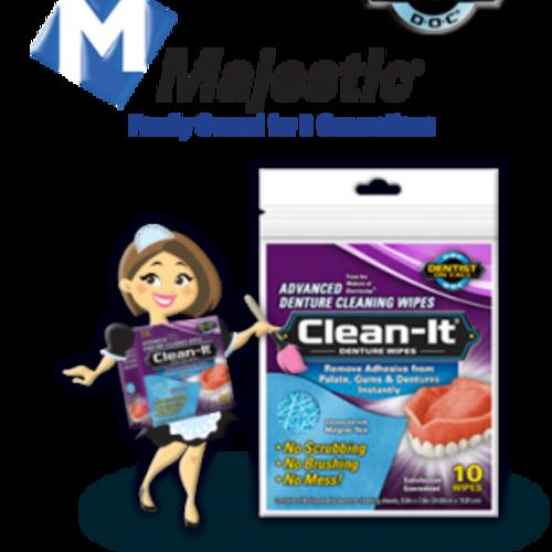 Free Clean-It Advanced Denture Wipes