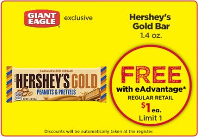 Free Hershey's Gold Bar