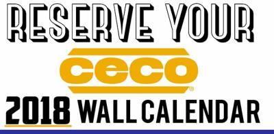 Free Ceco 2018 Wall Calendar