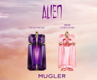 Free Sample Alien Flora Futura Eau de Toilette and Alien Eau de Parfum.
