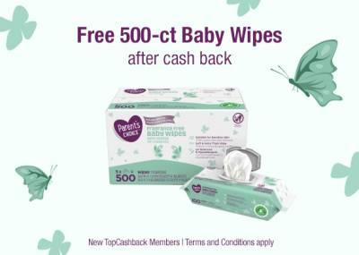 FREE 500-ct Baby Wipes
