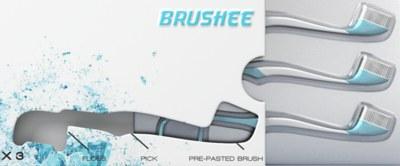 FREE Brushee disposable toothbrush
