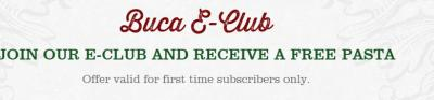 FREE Pasta Meal at Buca di Beppo