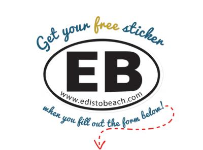 Free Edisto Beach Sticker