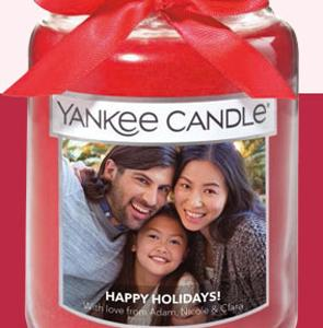 FREE Personalized Photo Candle Label at Yankee Candle